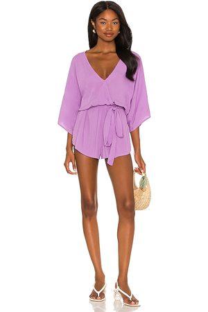 Indah Sunday Kimono Romper in - Purple. Size M/L (also in S/M).