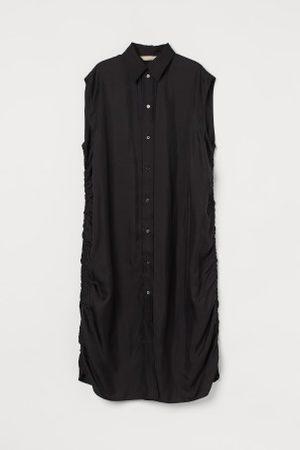 H&M Senhora Vestidos - Vestido camiseiro mistura seda