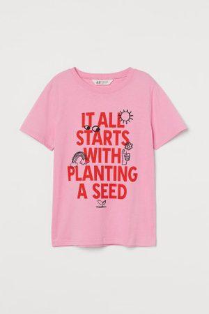 H&M Criança T-shirts & Manga Curta - T-shirt com motivo estampado