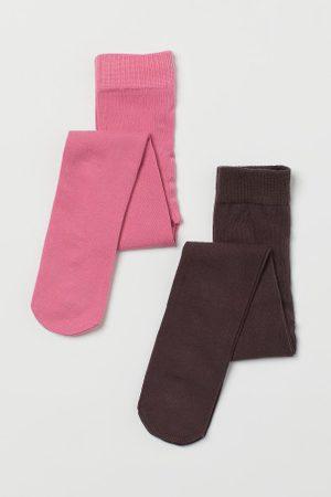 H&M Criança Collants & Ligas - Collants em malha fina, pack-2