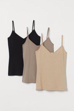 H&M Pack de 3 tops com decote V