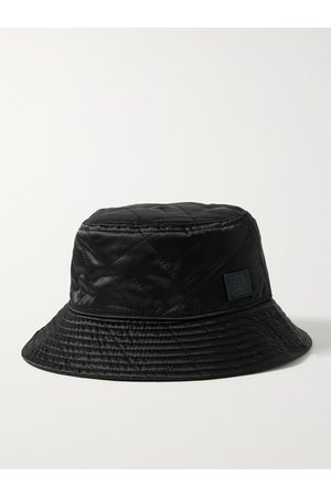 Acne Studios Homem Chapéus - Logo-Appliquéd Quilted Shell Bucket Hat