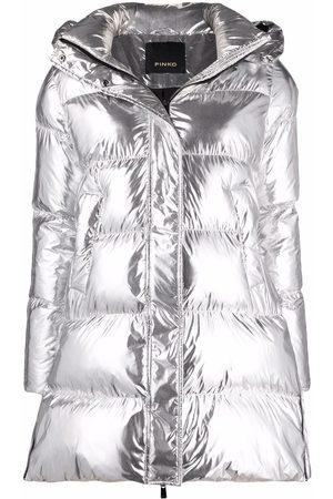 Pinko Metallic puffer jacket