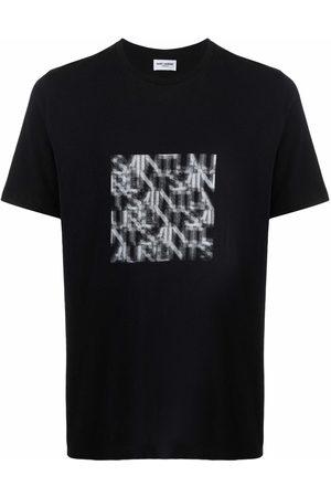 Saint Laurent Homem T-shirts & Manga Curta - Graphic-print T-shirt