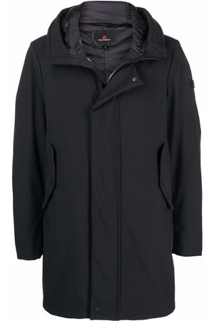 Peutery Logo patch hooded coat