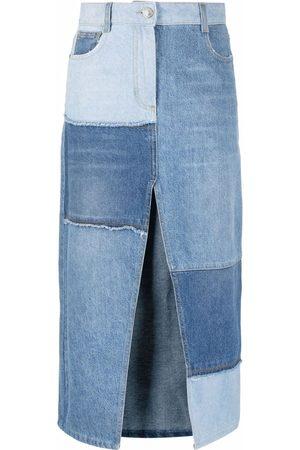 Pinko Patchwork denim skirt