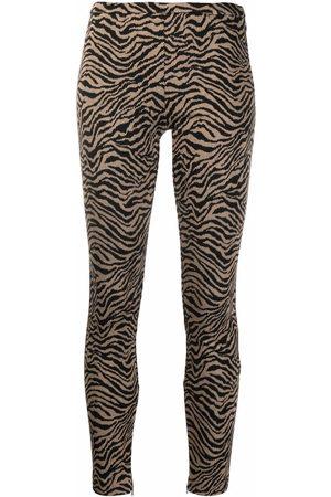 Pinko Animal-pattern slim trousers