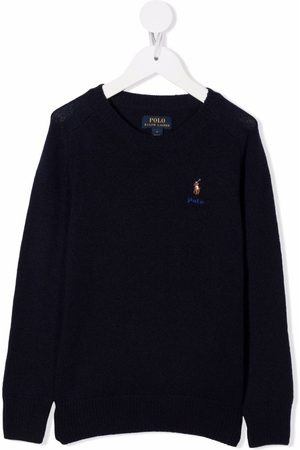 Ralph Lauren Polo Pony-embroidered rib-trimmed jumper