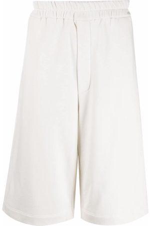 Jil Sander Long cotton track shorts