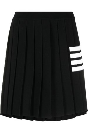 Thom Browne Senhora Saias de Pregas - 4-Bar stripe knitted skirt