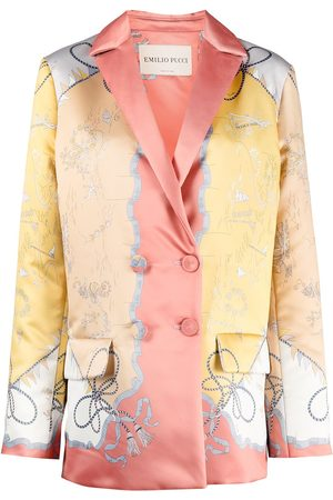 Emilio Pucci Holidays-print double-breasted coat