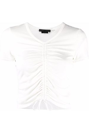 ALICE+OLIVIA Maury ruched cropped T-shirt
