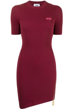 GCDS Senhora Vestidos Assimétricos - Short-sleeve asymmetric T-shirt dress