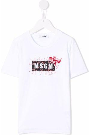 Msgm TEEN logo-print cotton T-shirt