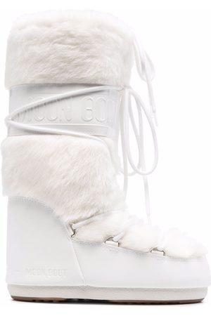 Moon Boot Senhora Botas de Neve - Faux-fur trim snow boots