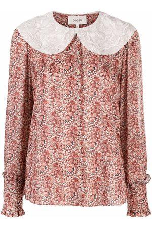 Bash Senhora Blusas - Ingrid peter pan collar abstract-print blouse