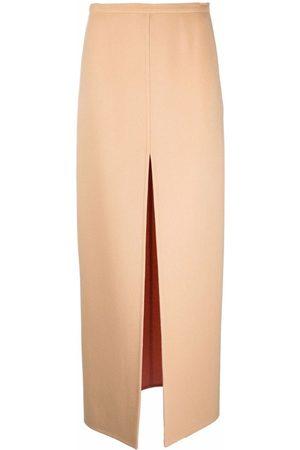 Emilio Pucci Double-faced split maxi skirt