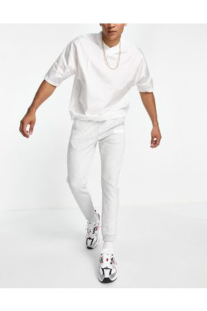 BOSS Athleisure Hadiko Batch logo joggers with contrast side panel in grey