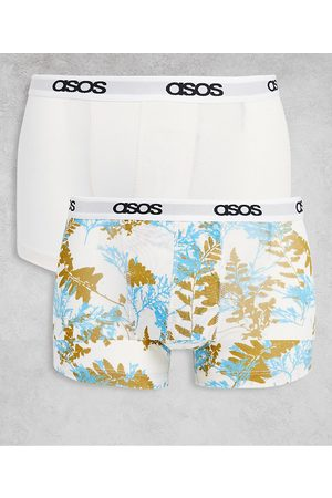 ASOS DESIGN 2 pack trunks with floral print-Multi