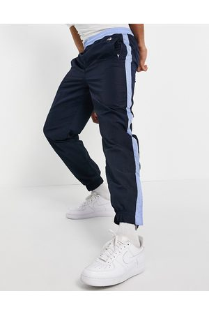 Boss Homem Joggers - X Russell Athletic Janyl joggers with side stripe in navy