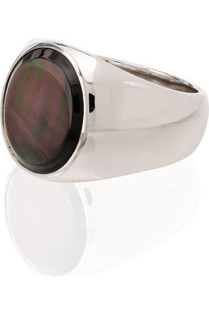 TOM WOOD Homem Anéis - Sterling silver mother-of-pearl ring
