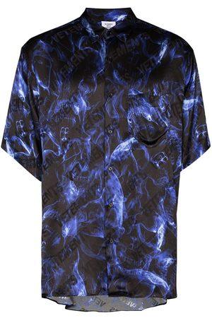 Vetements Fluid Skulls short-sleeve shirt