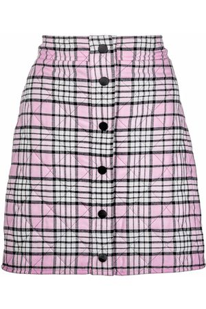 Msgm Quilted check mini skirt