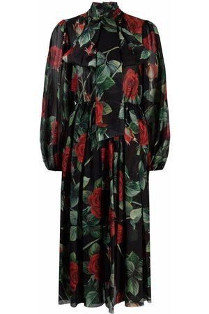 Dolce & Gabbana Senhora Vestidos Casual - Floral-print dress