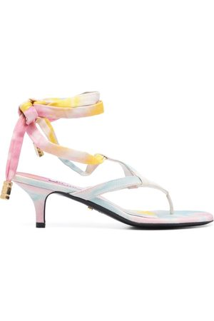 GCDS Senhora Cuecas - 70mm tie-dye thong sandals