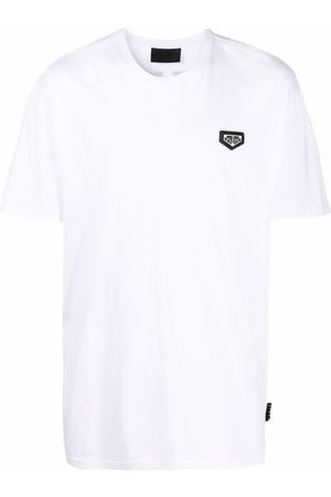 Philipp Plein T-shirts & Manga Curta - Beaded logo T-shirt