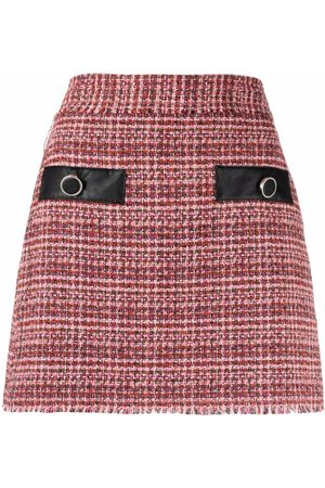 Pinko Senhora Saias - High-waisted tweed skirt