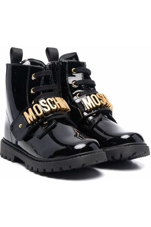 Moschino Menina Botins - Logo-touch strap ankle boots
