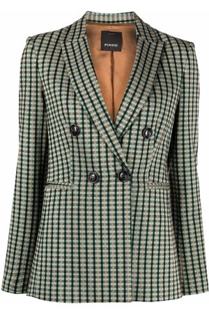 Pinko Gingham double-breasted blazer