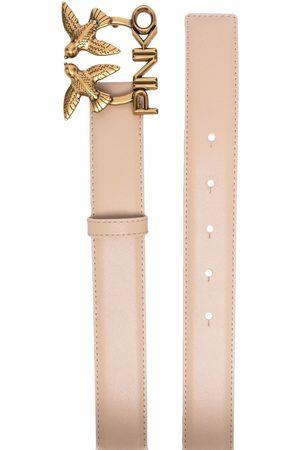 Pinko Senhora Cintos - Love Birds leather belt