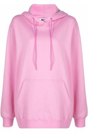 MSGM Drawstring cotton hoodie