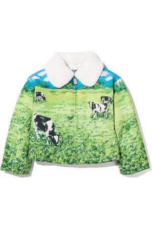 Moschino Landscape-print padded jacket