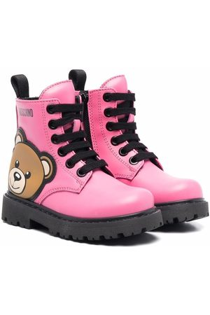 Moschino Teddy bear-embellished ankle boots