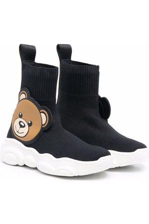 Moschino Menina Ténis - Teddy bear-embellished sock-style sneakers
