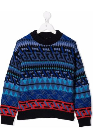 VERSACE Intarsia-knit jumper