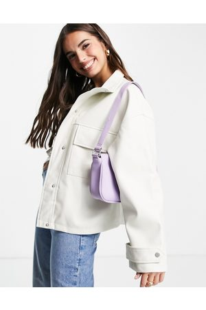 ASOS Chuck on faux leather jacket in white