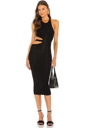 Michael Costello Athena Midi Dress in - . Size L (also in XXS, XS, S, M, XL).