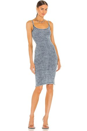 Knorts Denim Knitwear X REVOLVE Pencil Spaghetti Strap Dress in - Blue. Size 1 (also in 2, 3, 4).