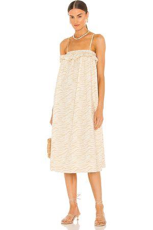 Tularosa Aurora Dress in - Nude. Size L (also in XXS, XS, S, M, XL).