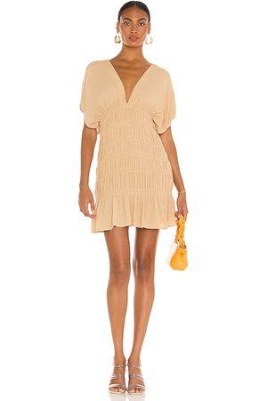 Lovers + Friends Innika Mini Dress in - Tan. Size L (also in XXS, XL).