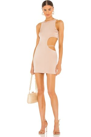 h:ours Clarity Mini Dress in - Nude. Size L (also in XXS, XS, S, M, XL).