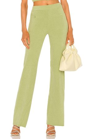 Song of Style Caspian Knit Pants in - Green. Size L (also in XS, S, M).