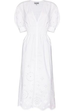 Ganni Senhora Vestidos Casual - Broderie anglaise midi dress