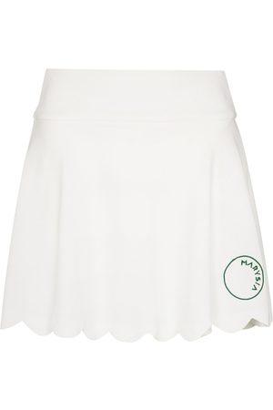 Marysia Senhora Mini-saias - Venus scalloped hem mini skirt