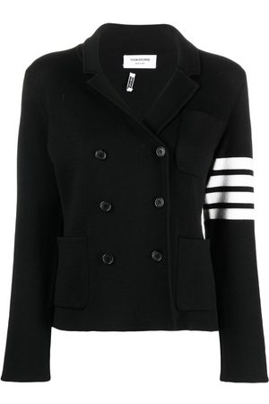 Thom Browne Senhora Blazers - 4-Bar stripe knitted blazer