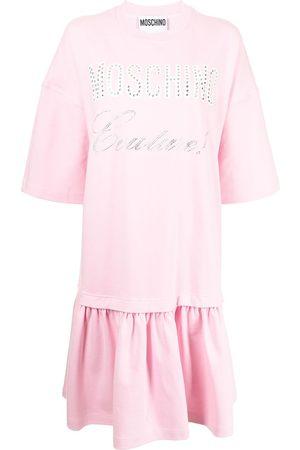 Moschino Senhora Vestidos Estampados - Layered logo-print T-shirt dress